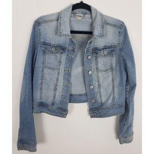 Mossimo Crop Denim Light Wash Jean Jacket